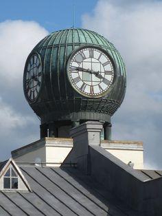 Pietarsaari tobacco factory clock. Ostrobothnia province of Western Finland.- Pohjanmaa - Österbotten