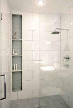 New Bathroom Remodel Shower Tile Shelves Ideas Bad Inspiration, Bathroom Inspiration, Diy Bathroom Remodel, Bathroom Makeovers, Budget Bathroom, Tub Remodel, Small Bathroom Remodeling, Small Shower Remodel, Bathroom Hacks