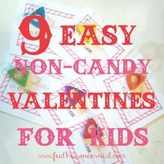 9 easy non-candy valentine ideas for kids  |  Feathers in Our Nest