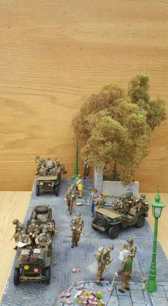 British paratroops in Jeeps.