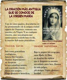 Catholic Prayers In Spanish, Prayer For Family, Catholic Religion, Blessed Mother Mary, Divine Mercy, God Prayer, God Loves Me, Spiritual Inspiration, Dear God