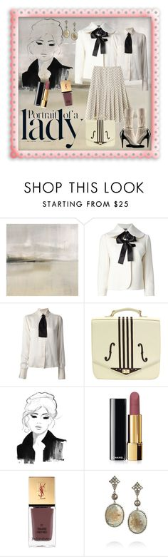 """#188 Portrait of a Lady"" by fufuun ❤ liked on Polyvore featuring Alexander McQueen, Chanel, Alberta Ferretti, Inez & Vinoodh, Chicnova Fashion, Yves Saint Laurent, Loree Rodkin, women's clothing, women's fashion and women"