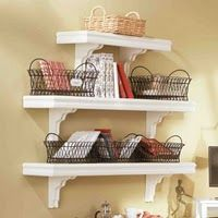 Shelf Tutorial.  I don't have a mantel but these would work in the dining room.