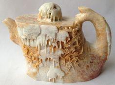 Collectable Soapstone Oriental Teapot Soapstone, Teapot, Oriental, Cars, Electronics, Tableware, Ebay, Fashion, Moda
