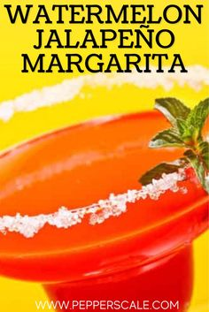 This Spicy Watermelon Jalapeño Margarita is an excellent summer drink that'll have you and your guests coming back for more. It's just the right amount of spice, but if you like all things hotter, increase the amount of jalapeño and leave the seeds and membrane intact when you blend. #margarita #summerdrinks #summerrecipes #spicymargarita Margarita Recipes, Cocktail Recipes, Cocktails, Chipotle Recipes, Watermelon Slices, Stuffed Jalapeno Peppers, Sweet And Spicy, Summer Drinks, Caffeine