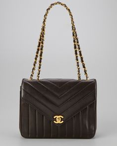 Chanel Black Chevron Lambskin Small Envelope Flap Bag $2299