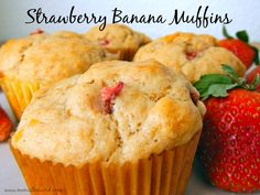 Not sure what to do with your wilted Strawberries?  Turn them into these amazing muffins! Easy to make and taste fantastic!