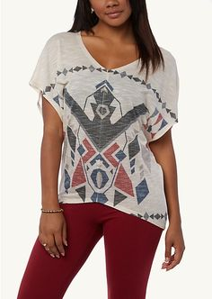 Tribal Poncho Tunic Top | Short Sleeve | #rue21trending