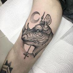 #tattoo #tattooart #тату #dotworktattoo #rhino #kievtattoo #kiev #bw #darkart #art #moon #graphic #details