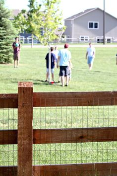 Good fence, but would need to have the wire stapled down for security.