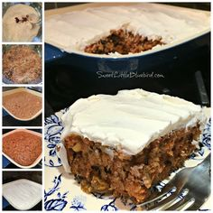 Carrot Crazy cake-- no eggs, dairy, butter. Make it with gluten free flour, such as rice flour, to have for allergy sensitive people