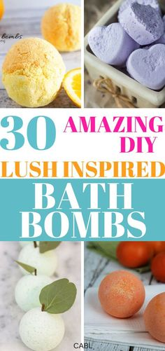 These DIY bath bombs