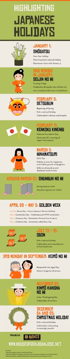 Highlighting Japanese Holidays Infographic #japanesetips