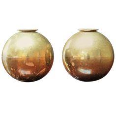 Pierre Forsell Pair Brass Candleholder Skultuna