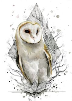 Illustration Inspiration, Illustration Art, Watercolor Animals, Watercolor Art, Lechuza Tattoo, Caveira Mexicana Tattoo, Owl Artwork, Owl Tattoo Design, Owl Pictures