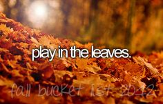 Play in the leaves.