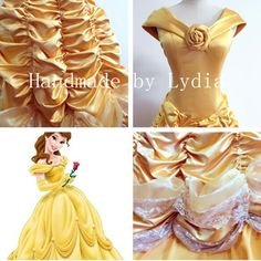 Handmade  Belle Dress Belle Costume Princess Belle by LydiaCosplay