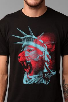 Lion Statue Of Liberty Tee  #UrbanOutfitters