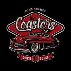 """229 curtidas, 4 comentários - Bobber Cult (@bobbercult) no Instagram: """"Support your local Car Club. Design I made for my friends The Coasters C.C.  #bobbercult #mercury…"""""""