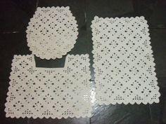As Receitas de Crochê: Jogo de banheiro de crochê com gráfico.