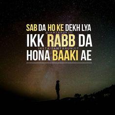 Rabb ...waheguru♡• Sikh Quotes, Desi Quotes, Gurbani Quotes, Indian Quotes, Best Lyrics Quotes, Motivational Quotes For Life, People Quotes, True Quotes, Words Quotes