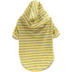 NEW! Stellar Pet Boutique Yellow Striped Hoodie-Medium - TPS Shopping Site