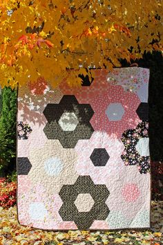 A Little Bit of Sparkle – Easy Grandmother's Garden Quilt – Riley Blake Designs Arrow Print, Check Fabric, Fun Projects, Riley Blake, Easy Quilts, Large Flowers, Quilting Designs, Autumn Leaves, Printing On Fabric