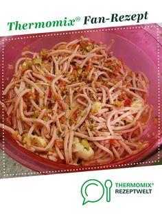 Sommerlicher Wurstsalat von julias2811. Ein Thermomix ® Rezept aus der Kategorie Vorspeisen/Salate auf www.rezeptwelt.de, der Thermomix ® Community.