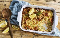 Lohikiusaus/Salmon and potatoe casserole, Kotiliesi.fi