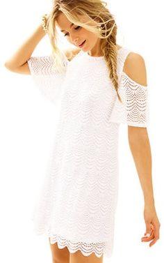 d27947713f0697 Somerset Open Shoulder Swing Dress: $188 Dress Bra, Knit Dress, White Lilly,
