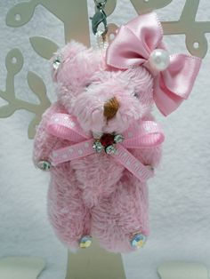Teddy bear Plush Strap (Ribbon/Pink) #Unbranded #AllOccasion