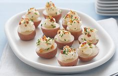 Remodelaholic   Mini Potato Bites Hors D'oeuvres and Recipe Linky