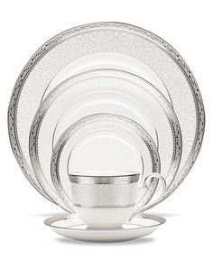 Noritake Dinnerware, Odessa Platinum Collection - Fine China - Dining & Entertaining - Macy's Going to start collecting this!