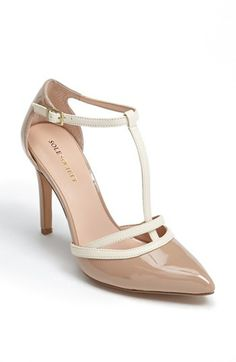 Sole Society 'Nicola' T-Strap Pump available at #Nordstrom----I like it in black, too