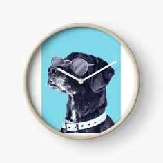 'Whatapp DAWG = dog tshirt' Clock by Modern Prints, Art Prints, Quartz Clock Mechanism, Hand Coloring, Clocks, Printed, Awesome, Face, Dogs