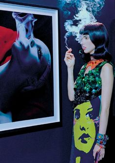 """Holy Smoke"" photographed by Miles Aldridge"