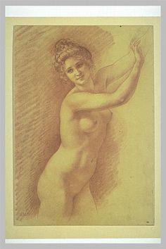 Point,  Armand ; Jeune femme nue ; musée du Louvre département des Arts graphiques, RF 40043, recto