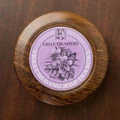 GEO.F.Trumper Violet Hard Shaving Soap in Wooden Bowl