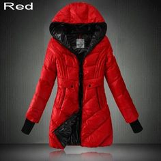 Moncler Women Full Zip Compact Bright Detachable Hood Coat Orange ...
