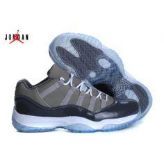 Mens Air Jordan 11 Low Barons Black Metallic SilverWhite Jordan 11 Outlet
