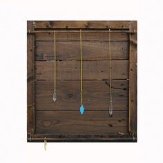 Jewelry organizer handmade from reclaimed wood by DesignSea.etsy.com