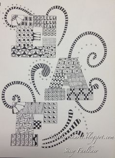 Zentangle initials!!!