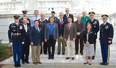 BBB Military Veterans pose at the Tomb of the Unknown Soldiers
