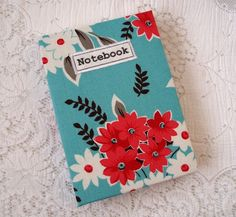 A6 Handmade notebook with floral fabric £7.95