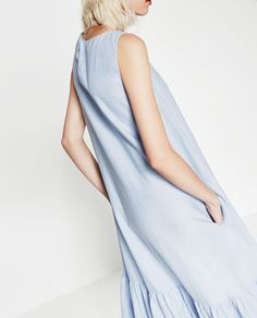 Image 4 of MIDI POPLIN DRESS from Zara