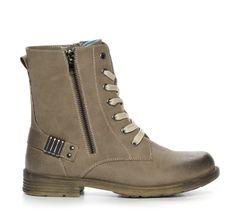 Din Sko Kängor och Boots Känga Skinnimitation Brun Combat Boots, Taupe, Barn, Shoes, Fashion, Beige, Moda, Converted Barn, Zapatos