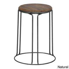 Hairpin legs and a stained wood seat make these the perfect stools for an industrial chic room.