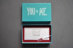 Valentine's Love Coupons by Veronika Plant, via Behance