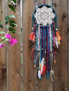Silverlake Dreamcatcher - Dream Catcher, Dreamcatcher, Boho Decor, Bohemian Decor, Bedroom Decor, Wall Decor, Home Decor