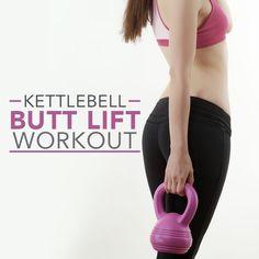 Kettlebell Butt Lift Workout- love this workout!! #kettlebellworkout #buttliftworkout
